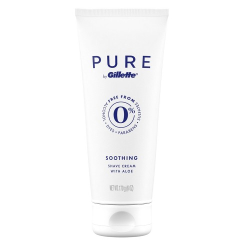 Gillette Pure Men's Soothing Shave Cream with Aloe - 6oz - image 1 of 4
