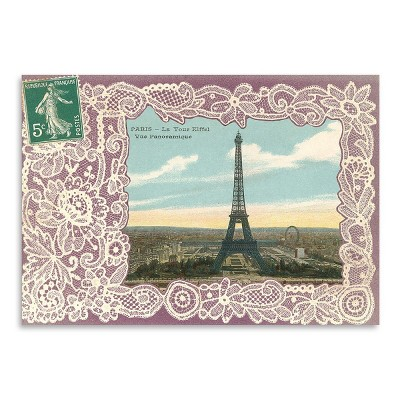Americanflat Eiffel Tower Postcard Stamp by Found Image Press Poster