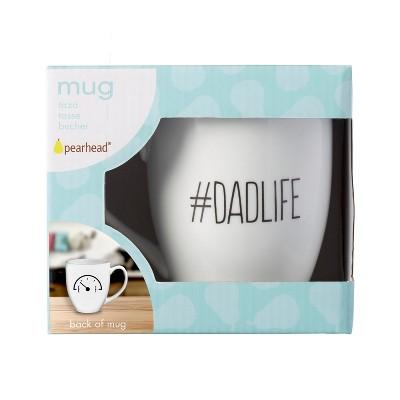 Pearhead Dadlife/Fuel Gauge Ceramic Mug drinkware - White