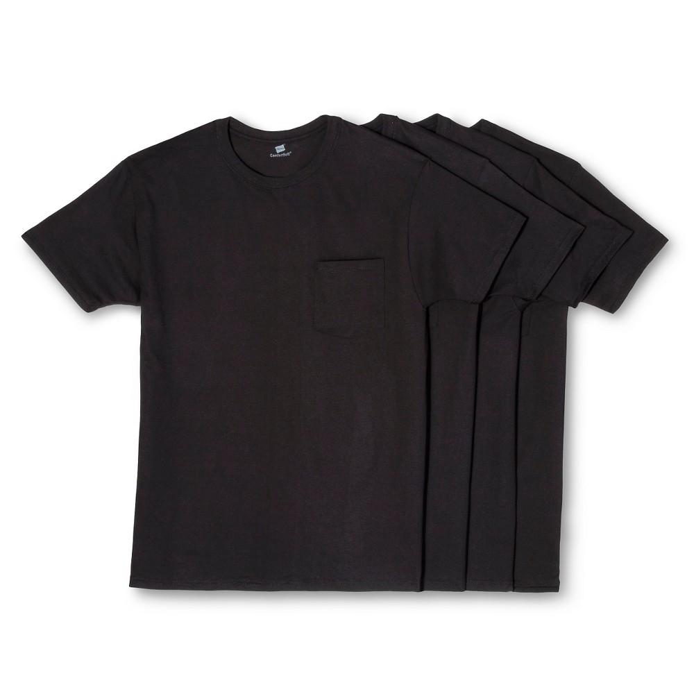 Hanes Men's Dry Pocket Undershirts 4pk - Black Xxl
