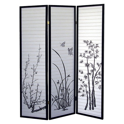 3 Panel Room Divider Scenery - Ore International - image 1 of 1