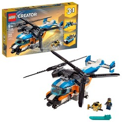 LEGO Creator Twin-Rotor Helicopter Toy Helicopter Building Set with Submarine 31096