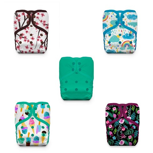 Thirsties Bundle of Love Cloth Diaper Cover Collection, Pack of 5, Multicolored, One Size - image 1 of 1