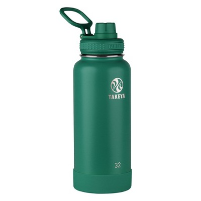 Takeya Actives 32oz Insulated Stainless Steel Water Bottle with Spout Lid - Evergreen