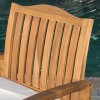 Della 2pk Acacia Wood Dining Chairs - Teak-Rustic Metal - Christopher Knight Home - image 3 of 4