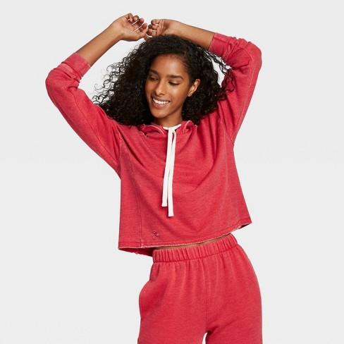 Women's Fleece Lounge Hoodie - Colsie™ - image 1 of 3