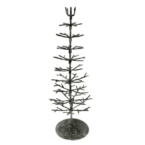 Metal Christmas Tree.Metal Bark Christmas Tree Figurine Wondershop