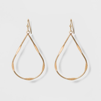 Textured Wire Teardrop Earrings - Universal Thread™