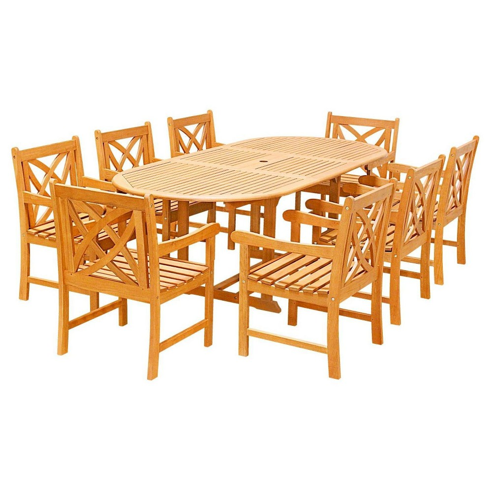 Vifah 9 Piece Patio Dining Set