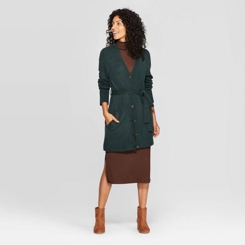 Women's Belted Button-Front Cardigan Sweater - A New Day™ - image 1 of 3