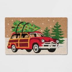 "1'6""X2'6""/18""X30"" Woody Car Doormat Green - Wondershop™"