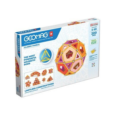 Geomag Magnetic Panels Building Set Recycled  - 200ct