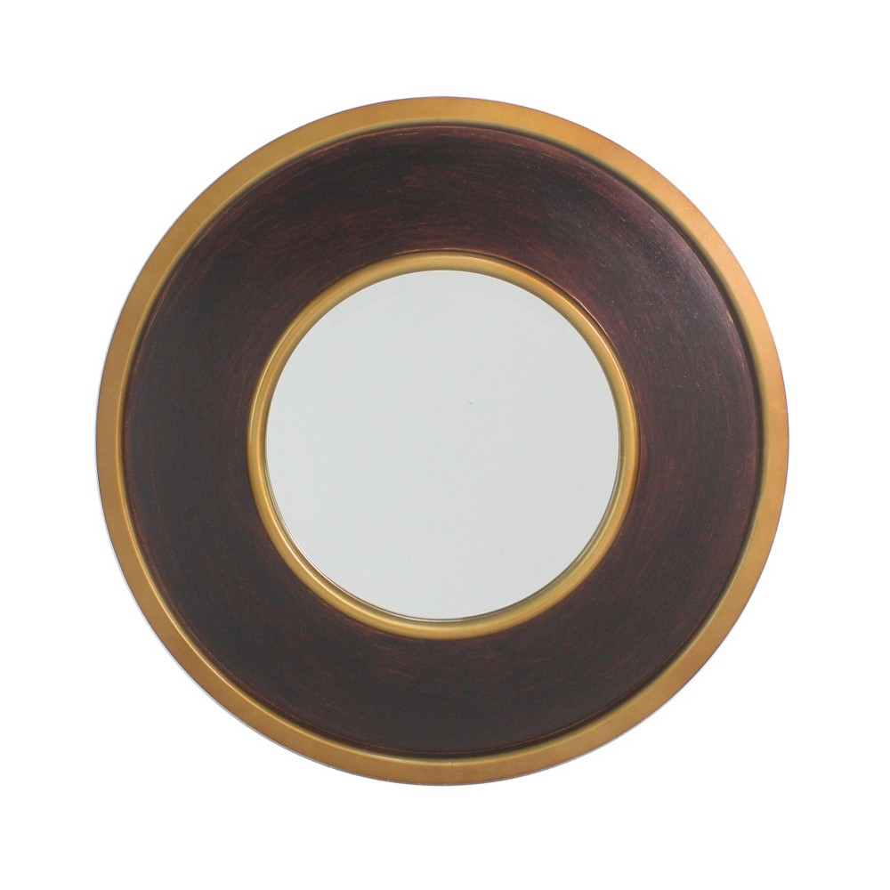 """Image of """"30"""""""" Brooklyn Round Mirror Gold - Carolina Chair and Table"""""""