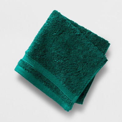 Soft Solid Washcloth Dark Green - Opalhouse™