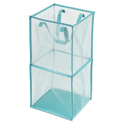 Mesh Rectangular Laundry Hamper - Aqua - Room Essentials™