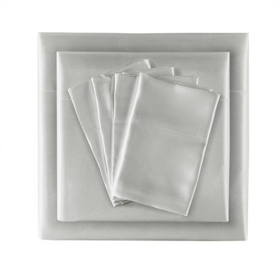 6pc Wrinkle Free Satin Sheet Set