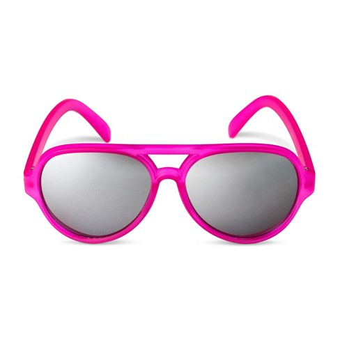 Girls' Aviator Sunglasses - Cat & Jack™ Pink - image 1 of 1