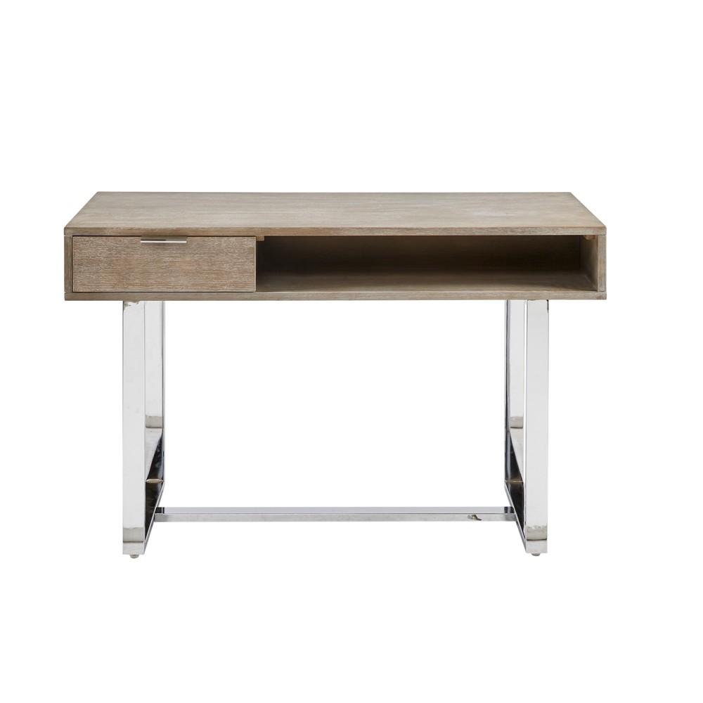 Brighton Writing Desk Brown/Silver