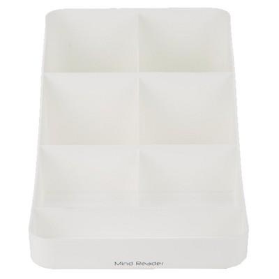 Mind Reader 7 Compartment Coffee Condiment, White