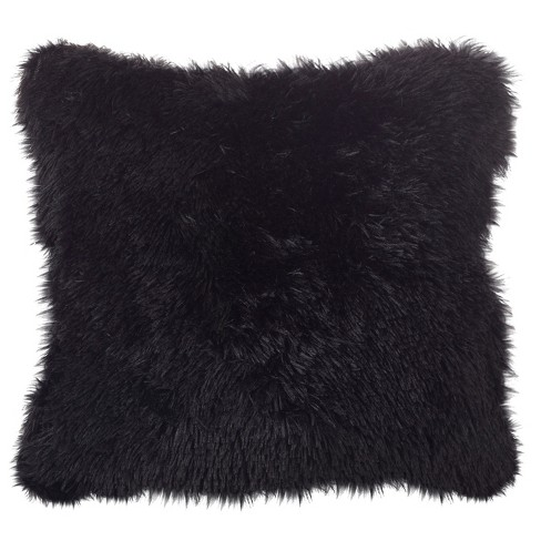 """18""""x18"""" Juneau Classic Faux Fur Down Filled Square Throw Pillow - Saro Lifestyle - image 1 of 3"""