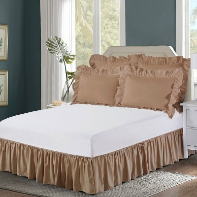 Wrap-around Ruffled Bed Skirt - Bed Maker's