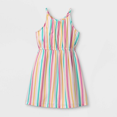 Girls' Woven Sleeveless Dress - Cat & Jack™ Striped
