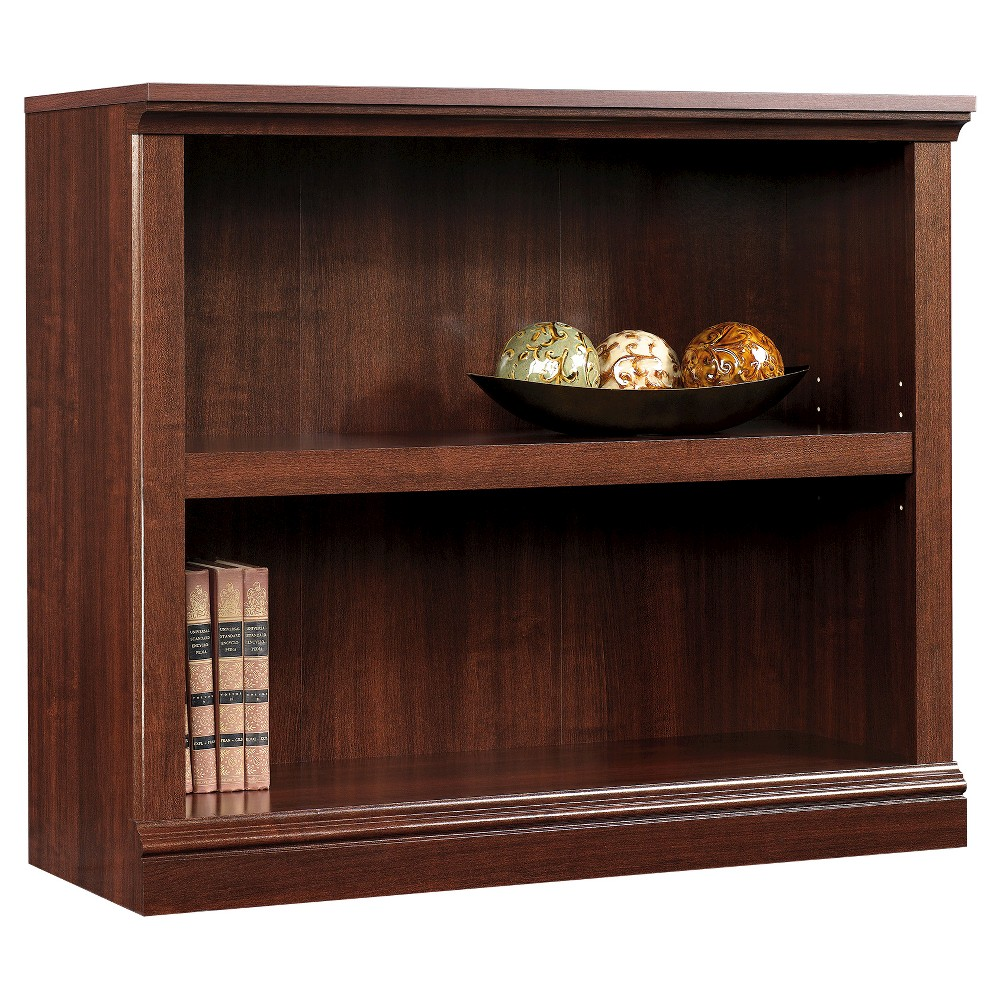 "Image of ""29.9"""" 2 Shelf Bookcase - Select Cherry - Sauder, Red"""