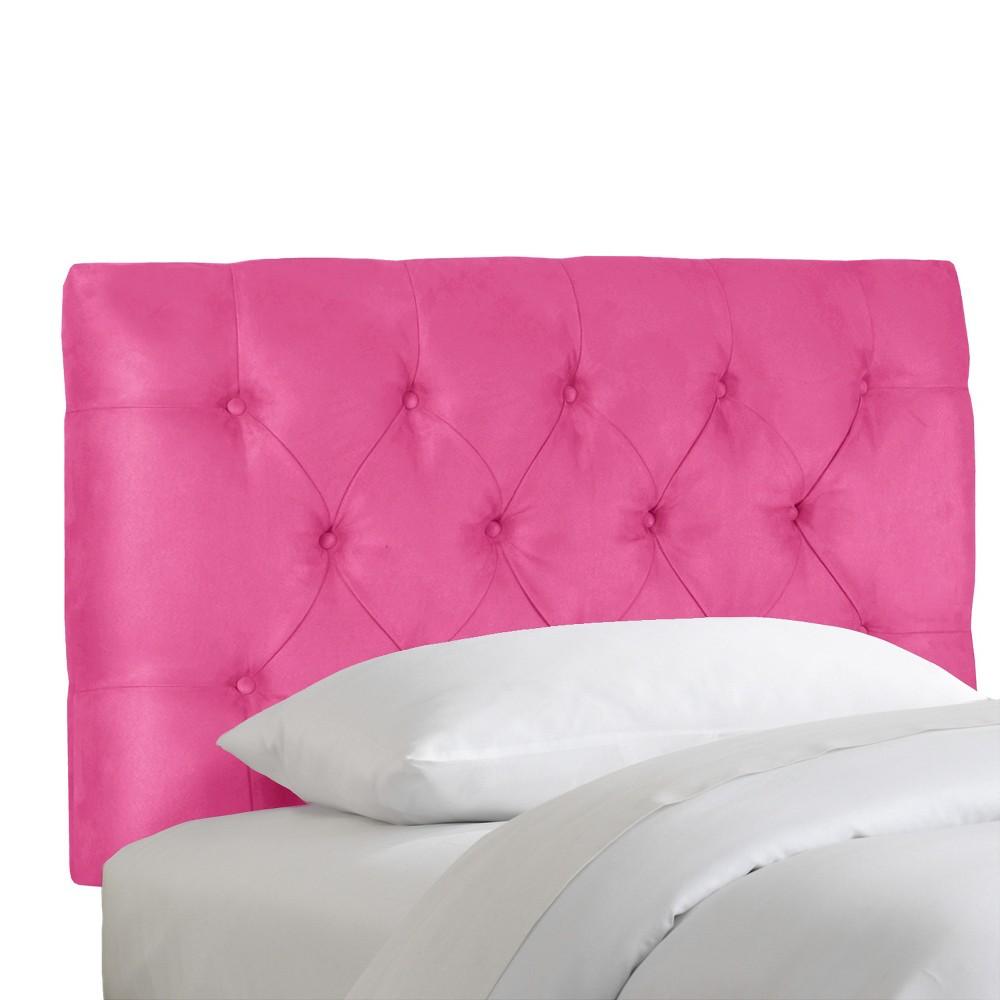 Image of Full Edwardian Kids Tufted Headboard Hot Pink - Pillowfort