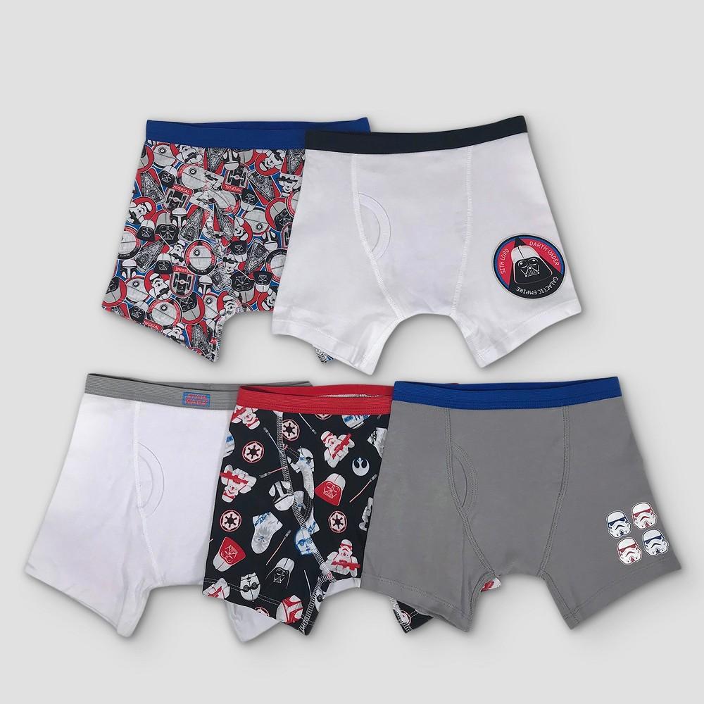 Boys' Star Wars 5pk Boxer Briefs - 8, Multicolored