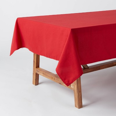 """84"""" x 60"""" Cotton Tablecloth Red - Threshold™"""