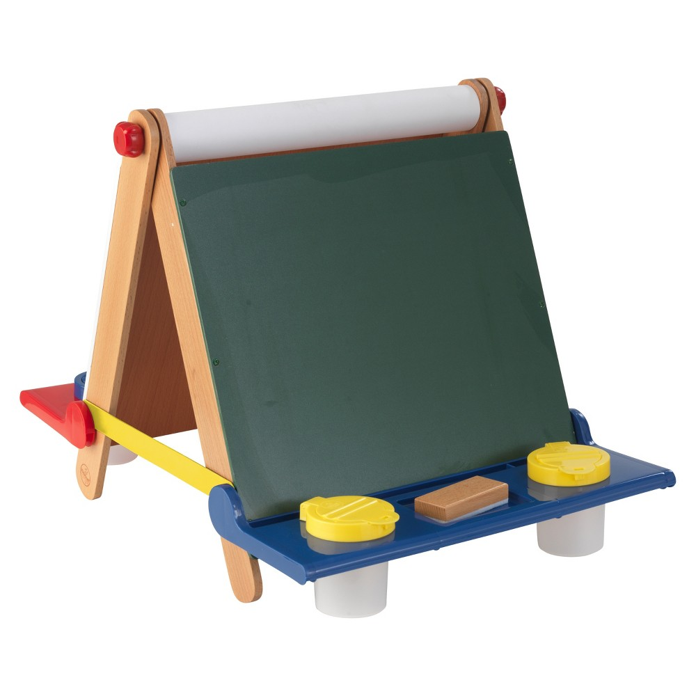 Kid Kraft Tabletop Easel - Natural with Primary