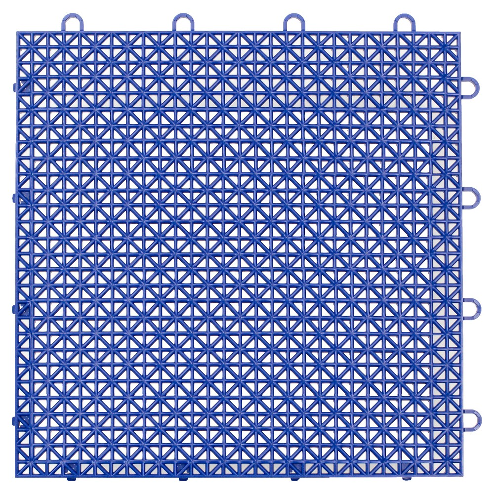 "Image of ""12""""x12"""" Armadillo Floor Tile 9 Pack - Cobalt Blue, Blue Blue"""