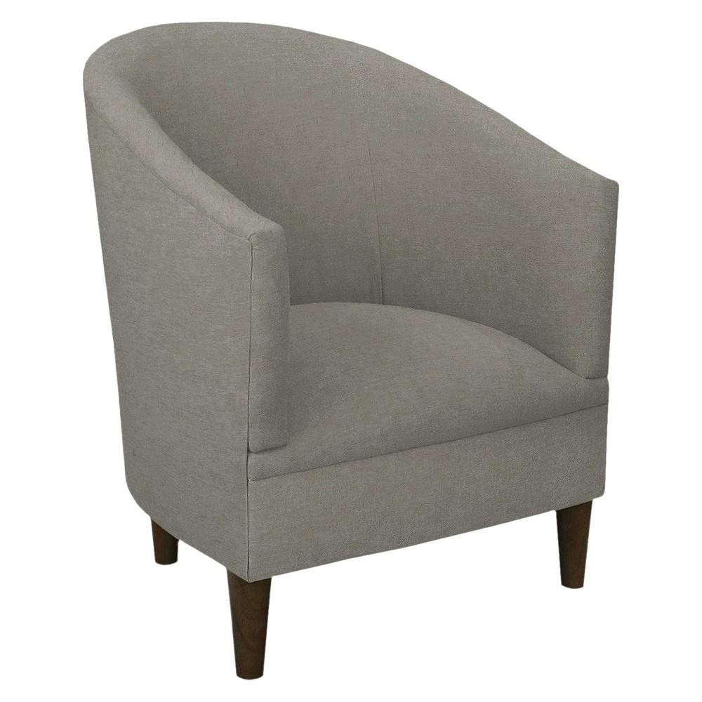 Skyline Custom Upholstered Tub Chair - Skyline Furniture, Linen Gray