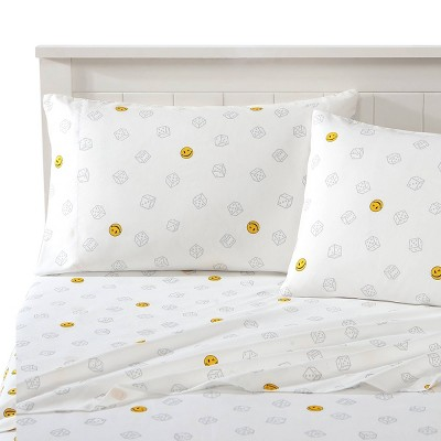 Smiley Dice Novelty Printed Sheet Set - Joe Boxer
