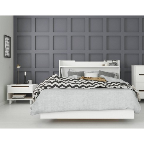 3pc Full Snooze Bedroom Set White - Nexera - image 1 of 4