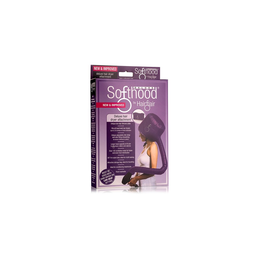 Image of Curlformers Deluxe Softhood Hair Dryer Attachment - Purple