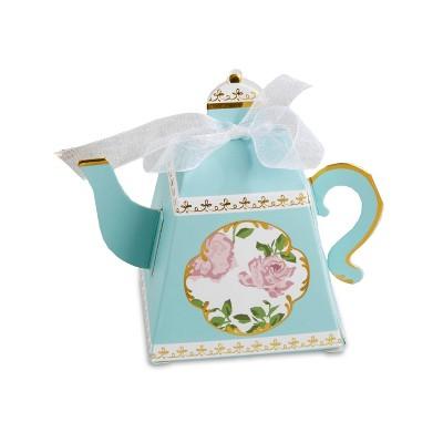 24ct Tea Time Whimsy Teapot Favor Box