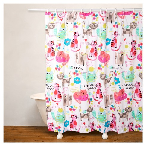 Crayola Purrty Cat Shower Curtain Target