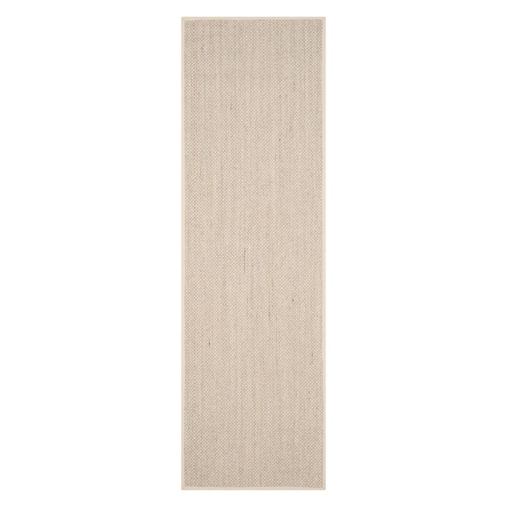 2'6X22' Solid Loomed Runner Marble/Beige - Safavieh