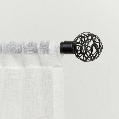 """66""""-120"""" Adjustable Catherine Curtain Rod and Finial Set - Exclusive Home"""