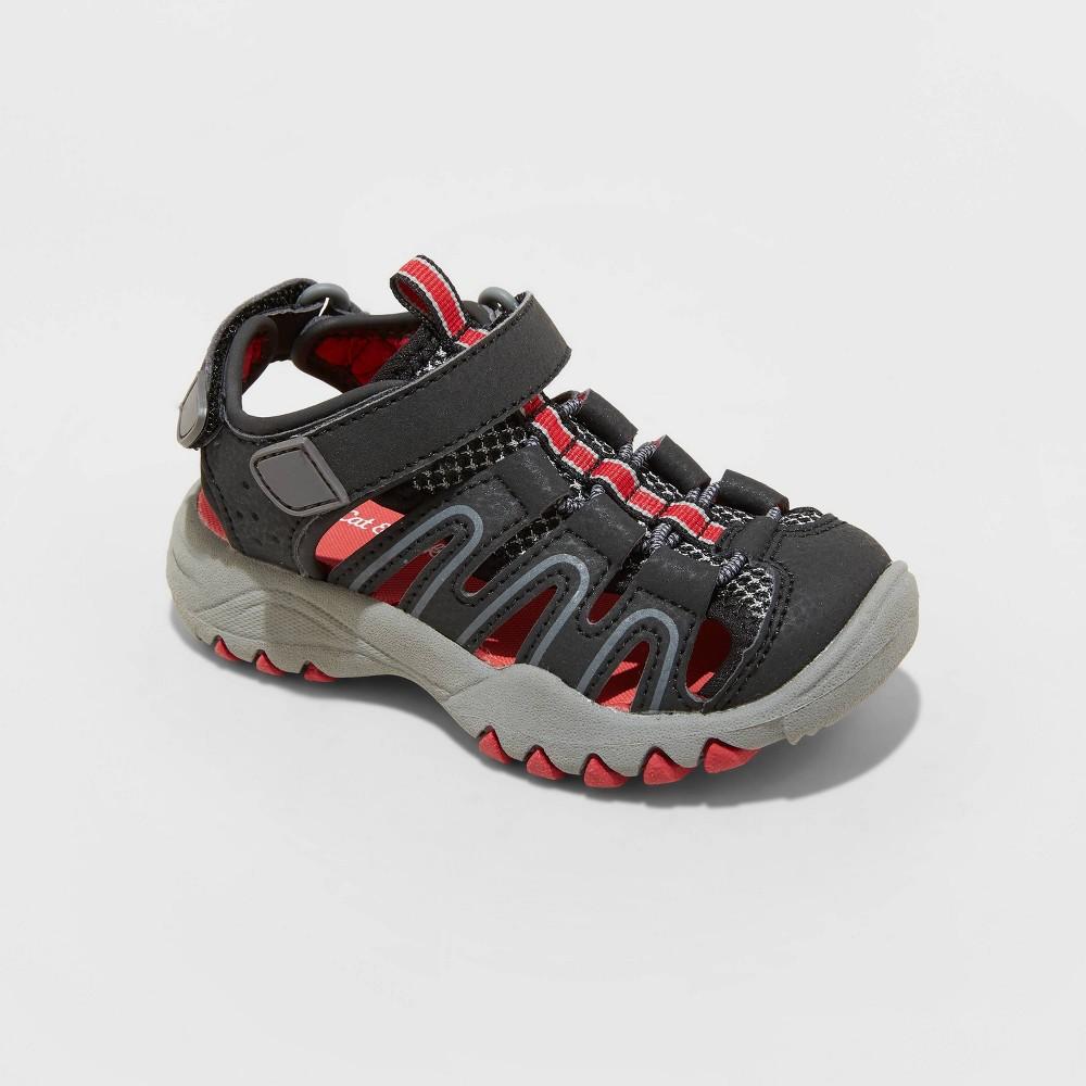 Toddler Boys 39 Afton Sandals Cat 38 Jack 8482 Black 8