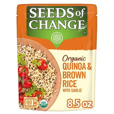 Seeds of Change Organic Quinoa & Brown Rice Mix Microwavable Pouch - 8.5oz