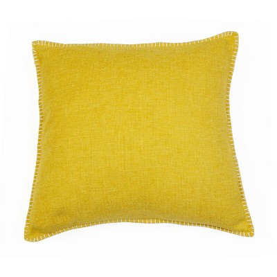"""2pk 20"""" Georgetown Chunky Weave Whipstitch Pillow Gold - Décor Therapy"""