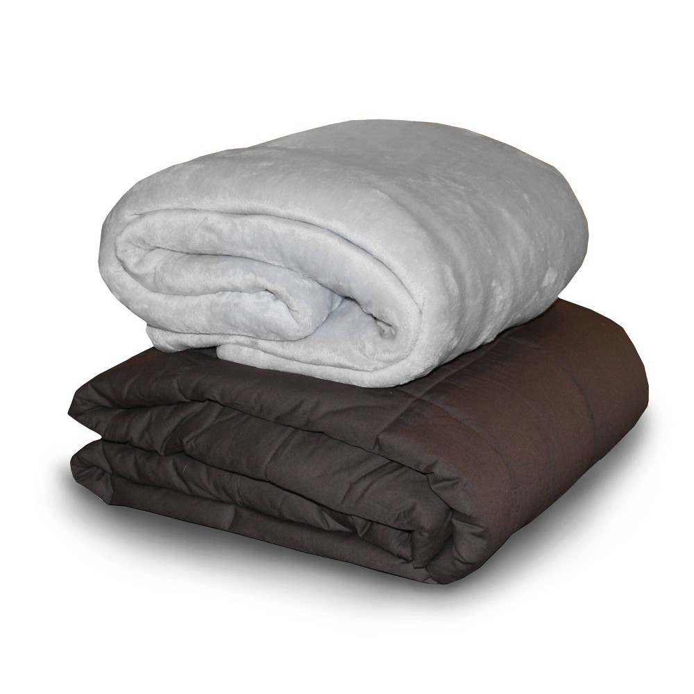 "Image of ""48"""" x 72"""" 15lb Weighted Bed Blanket with Removable Washable Cover Gray - Dreamlab"""