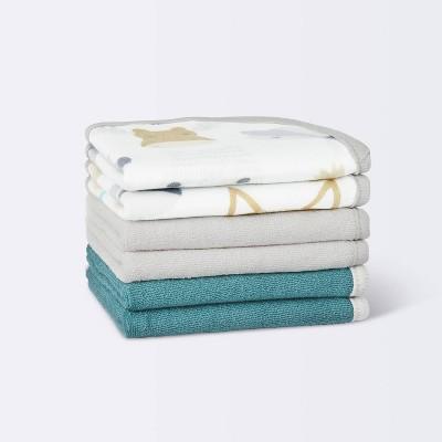 Baby Boys' 6pk Cub Washcloth Set - Cloud Island™ White