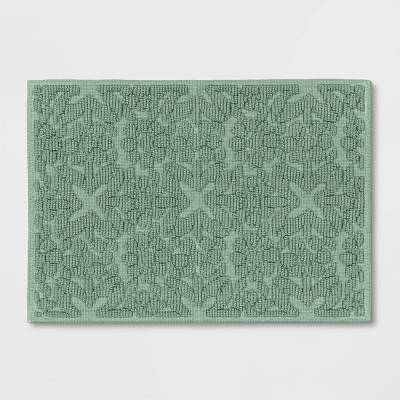 "17""x24"" Woven Trellis Chunky Cotton Bath Rug - Threshold™"