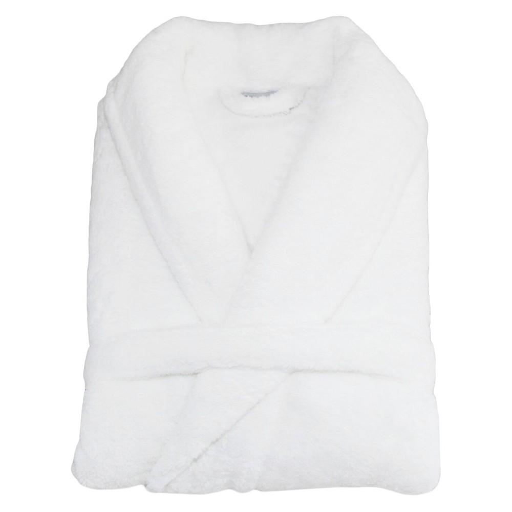 Super Plush Bathrobe Linum Home White Small Medium