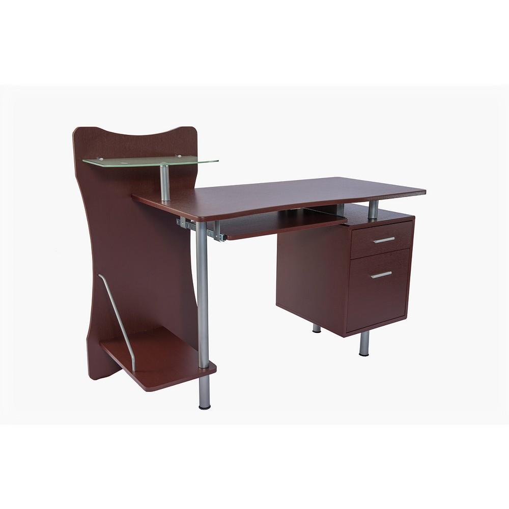 Stylish Computer Desk with Storage Brown - Techni Mobili