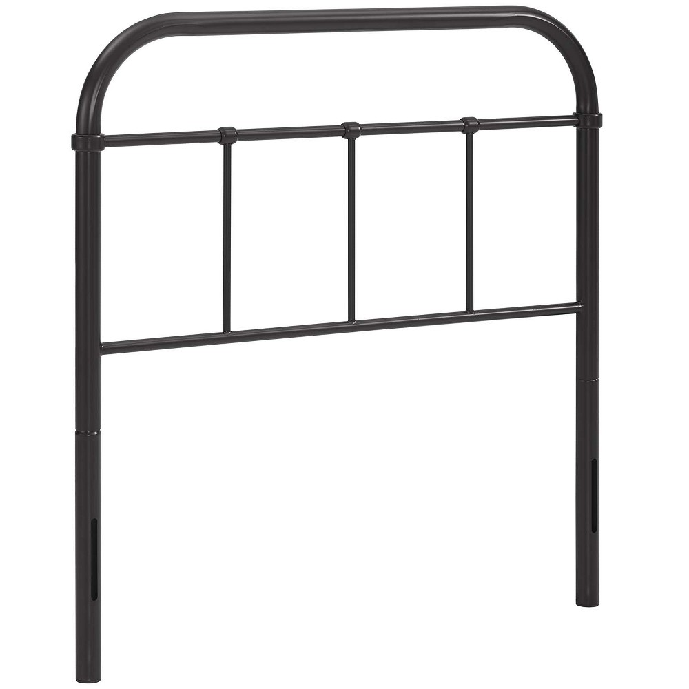 Image of Serena Twin Steel Headboard Brown - Modway
