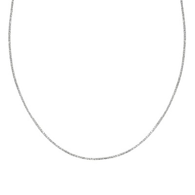 "Sterling Silver Sparkle Chain Necklace - Silver (20"")"